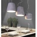 Minimalistyczna lampa wisząca z cementu naturalnego
