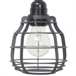 Szara lampa industrialna LAB (matowe) - HK Living