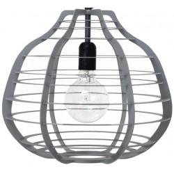Szara lampa industrialna LAB XL (matowa) - HK Living