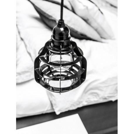 Czarna lampa industrialna LAB - HK Living
