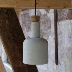 Lampa beton drewno
