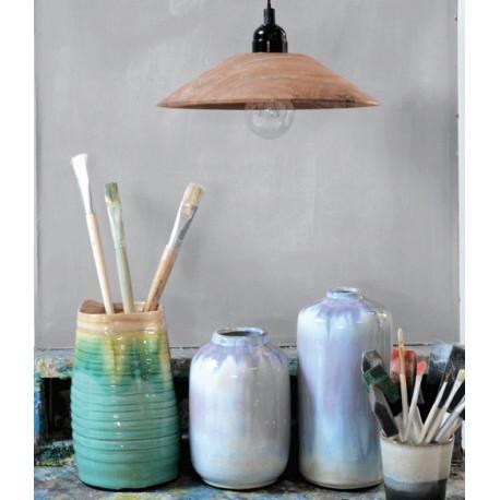 Drewniana lampa wisząca Sheesham - HK Living