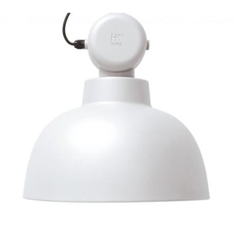 Biała lampa metalowa Factory M (matowa) - HK Living