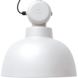 Biała lampa industrialna Factory L (matowa) - HK Living