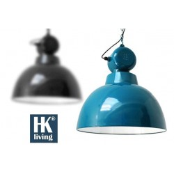 Niebieska lampa industrialna Factory L - HK Living
