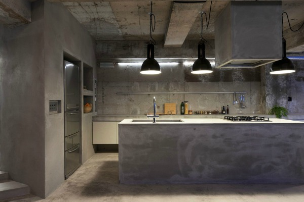 Piękno betonu we wnętrzu!