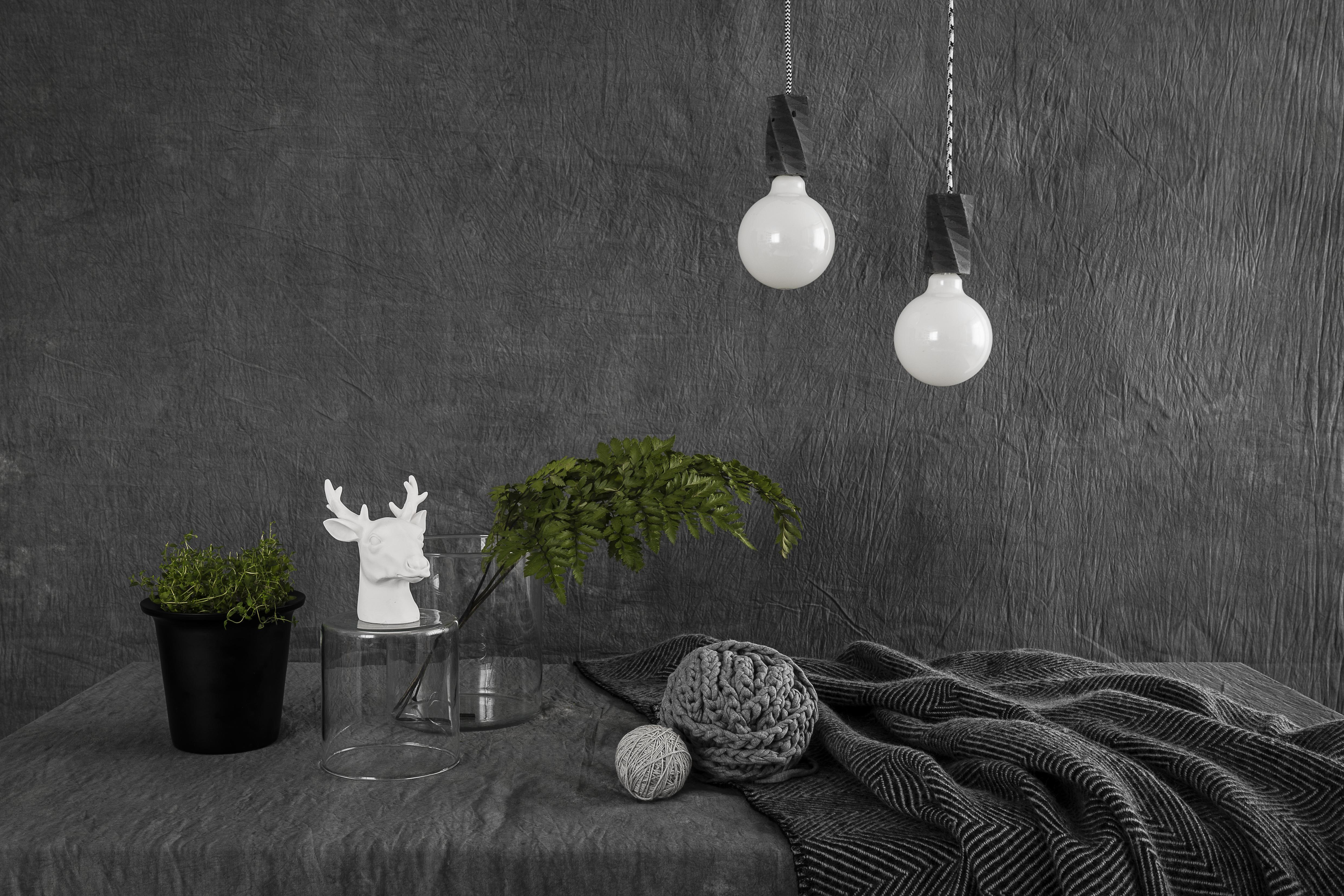 Betonowa lampa o nowoczesnych designie