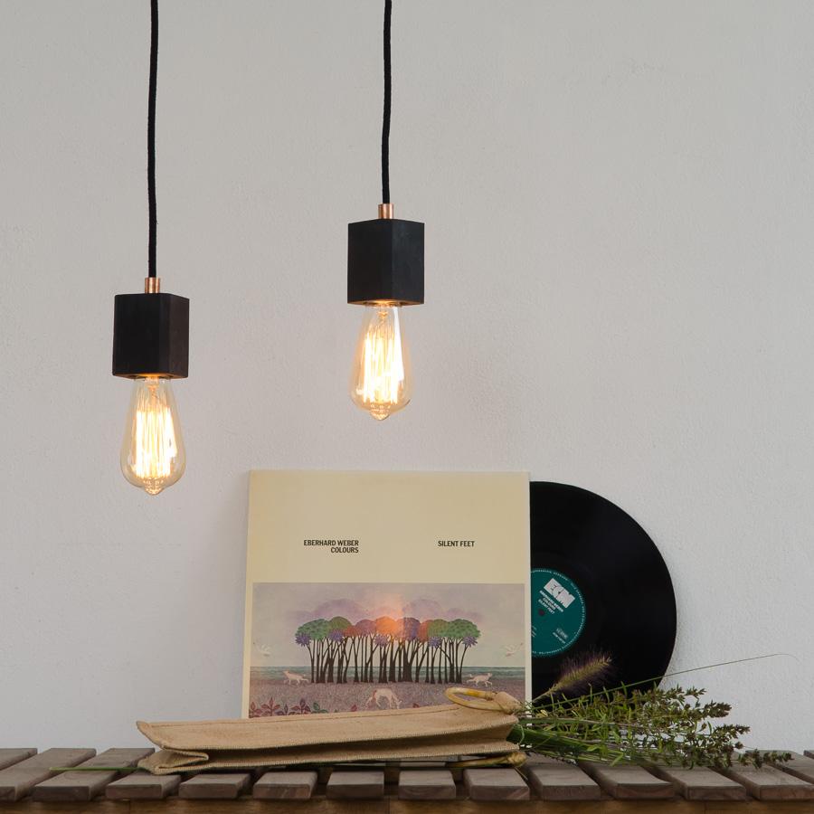 Industrialna lampa z betonu KALLA