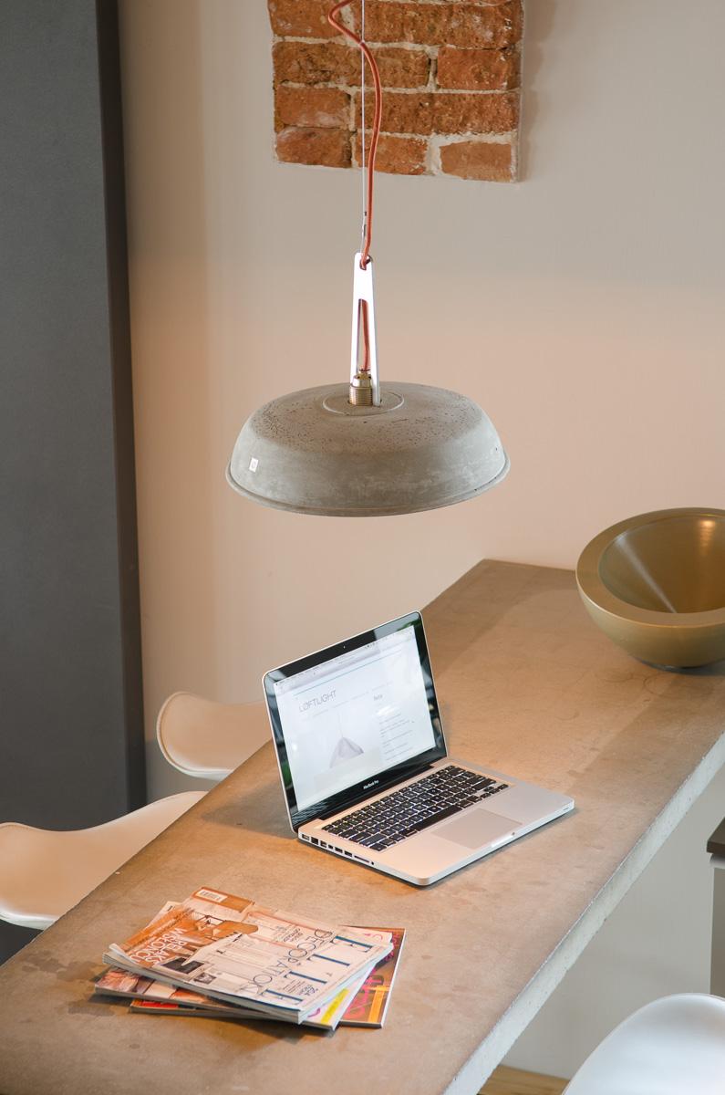 Lampy z betonu i metalu