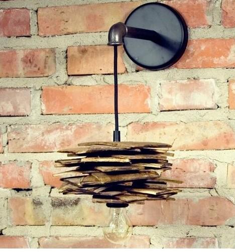 Drewniane lampy ścienne