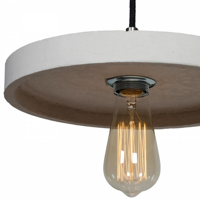 lampa betonowa - wisząca
