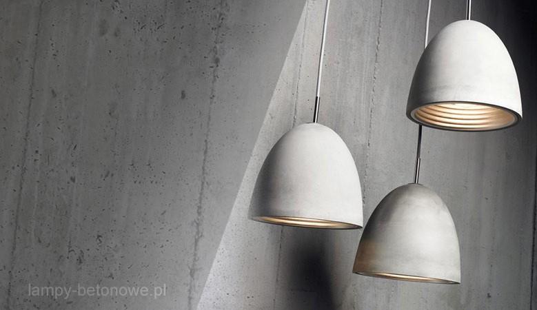 Lampy betonowe - ciekawa kolekcja