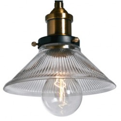 Szklana lampa industrialna Raw Glass 1