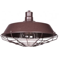 Lampa industrialna Raw Metal Cage S2 - Rusty Brown