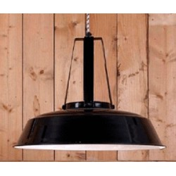Czarna lampa industrialna WORKSHOP M - HK Living