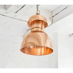 Miedziana lampa industrialna Warehouse L - HK Living